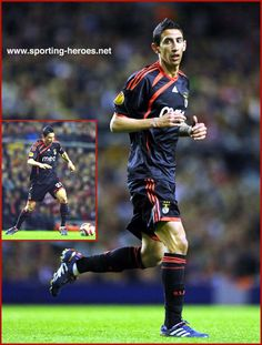Angel DI MARIA Benfica Sports Clubs, Europa League, Victorious, Soccer, Hero, Football, Baseball Cards, Eagles, Canoeing