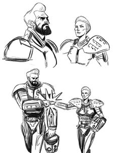 Pacific Rim character studies - Cherno Alpha team