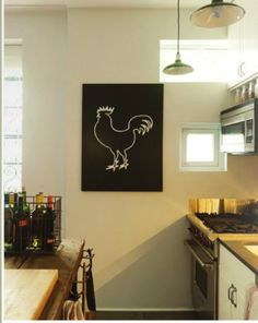 Rooster print - evening project for January.  Want the right custom canvas, or...maybe recycled ply...we'll see!