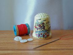 Vintage Thimble French Town Thimble Collector French Scene