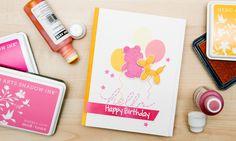 Hero Arts | Happy Birthday Balloon Animal Card