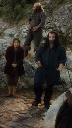 """Dwalin: *judging the world* Bilbo: """"I'm cold, I'm wet, I'm tired, I'm short..."""" Thorin: """"Listen, Jr's cold, wet, tired, short and whining..."""""""