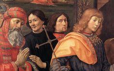 """""""Adoración de los Reyes Magos (detalle) (3)"""", témpera de Domenico Ghirlandaio (1449-1494, Italy)"""