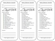 I pinned this particular chart because I think it is an easy way to keep the parents notified and updated on behavior issues. If you have problems with a particular student, you can fill out this form periodically and send it home to the parents. You can also keep another copy to refer back to when have parent/teacher meetings to mark the progress of the student.