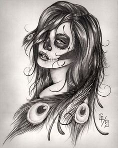 day of the dead girl drawing - Google Search