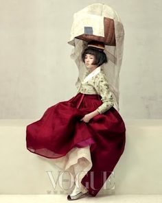 Détail de l'image -via Korea Through My Eyes: Vogue Korea: Wedding Hanbok )