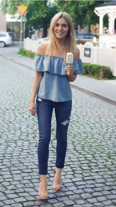 abcf937ac4a denim + off the shoulder | laurenkaysims.com | Fashion, Lauren kay ...