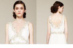 bridal updos wedding hairstyle inspiration 2013 bridal catwalks Marchesa 1