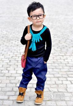 Little boy; big on style