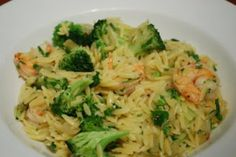 Cooking This and That: Garlic Lemon Shrimp and Orzo with Broccoli