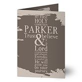 First Communion Personalized Greeting Card - 16781