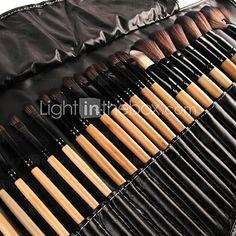 32pcs Makeup Brushes set Professional Powder/Foundation/Concealer/Blush brush Shadow/Eyeliner/Lip/Brow/Lashes Brush Makeup Kit Cosmetic Brushes - USD $ 15.29