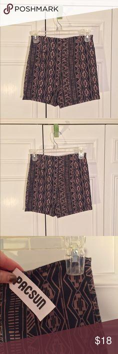 PacSun Never Worn High Waisted Shorts High waisted shorts with 2 inch inseam. Never worn with tags. They run small! PacSun Shorts