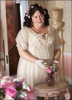 Flora Finching - Little Dorrit I love this character, and kind of hate Dickens for writing her. Eden Book, British Period Dramas, Little Dorrit, Bbc Drama, Movies Showing, Film Movie, Flora, Wigs, Flower Girl Dresses