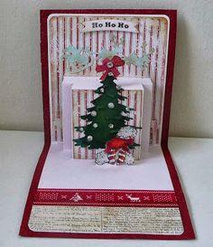 Nadjas Stempelkreationen: Weihnachtsszene mit Pop´n cuts/ 251ste Challenge nach einem Sketch und Grau