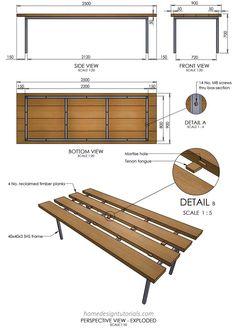 Kitchen Design Principles - Home Design Tutorials Built In Furniture, Metal Furniture, Furniture Plans, Furniture Design, Kitchen Triangle, Timber Planks, Drawing Furniture, Interior Design Sketches, Kitchen Floor Plans