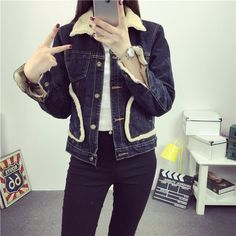 L7009 Wholesale Fashion Clothing 2017 Skinny Short Warm Fleece Female Denim Jackets Women Plus Size Winter Jean Coats - Buy Wholesale Fashion Clothing 2017,Women Winter Coat,Woman Winter Jackets Product on Alibaba.com