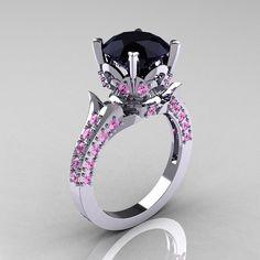 Exclusivo 14K oro blanco 30 quilates diamante por DesignMasters