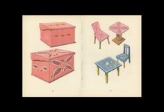 Toy Chair Ornate And Jewelry Box Antique Toy Print by KingPaper, $10.00