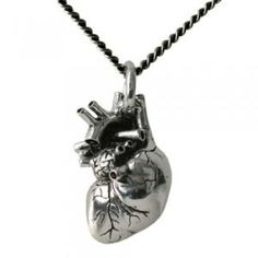 Anatomical heart pendant. I think this is  neat! A reminder to have a heart AND to keep it healthy.
