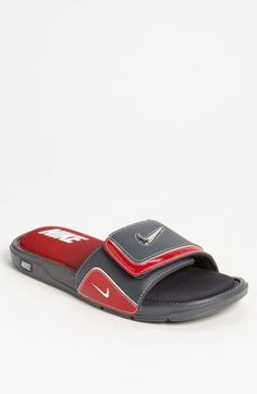 reputable site 9956b a44dc Nike Comfort Slide 2 Slide in Red for Men (dark shadow  silver  red