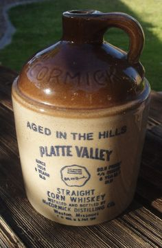 McCormick Platte Valley Straight Whiskey Jug... I actually own one of these.