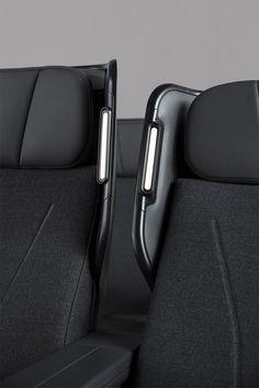 The new Qantas Premium Economy Seat designed by Caon Design Office. Car Interior Design, Automotive Design, Le Manoosh, Airplane Interior, Aircraft Interiors, Contemporary Living Room Furniture, Bespoke Design, Transportation Design, Chair Design