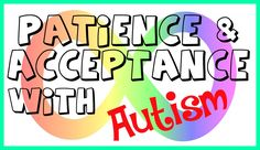 Do you have a child with autism? Ever feel drained and completely exhausted? In this video I discuss how children with autism need more patience and understanding from parents, family, and everyone else around them. Autism in general needs more understanding and acceptance because autistic kids aren't brats or spoiled, they just have a hard time sometimes and people need to understand that.