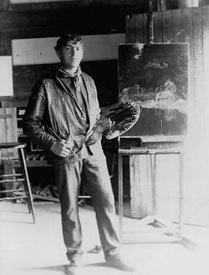N.C. Wyeth in his studio 1903. Among other things, he did the most amazing book illustrations.