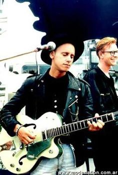 Martin Gore and Andy Fletcher of Depeche Mode.