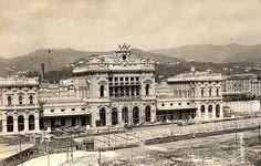 GENOVA - Stazione di Brignole - FOTO STORICHE CARTOLINE ANTICHE E RICORDI DELLA LIGURIA