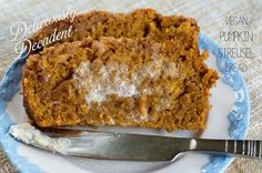 Deliciously Decadent Vegan Pumpkin Streusel Bread