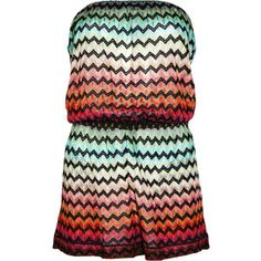 Missoni Sirmione crochet-knit strapless playsuit