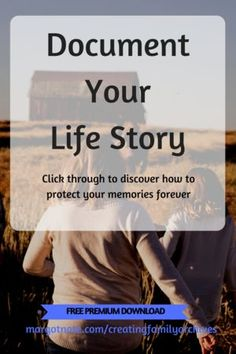 Write Your Life Story with 300 Personal History Questions Autobiography Writing, Memoir Writing, Writing A Book, Writing Tips, Writing Prompts, Creative Writing, Genealogy Organization, Organizing, Family History Book