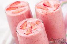 Receita de Milkshake de morango