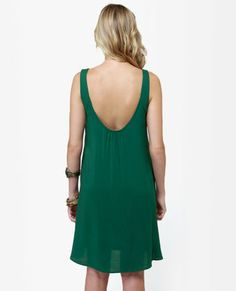 $38 The Real Deal Hunter Green Dress