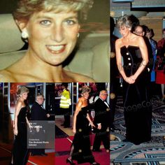 "January 23, 1991: Princess Diana at the Premiere of ""Postcards From The Edge"" at the Odeon, Leicester Square, London."