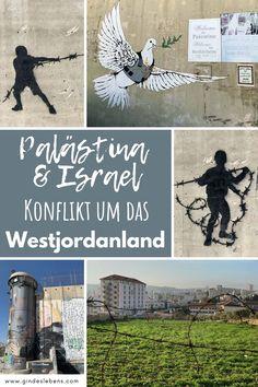 Palästina und Israel - der Konflikt um das Westjordanland, auch Westbank genannt. Kann man nach Palästina reisen und wenn ja, ist es überhaupt sicher? Der Konflikt zwischen Palästina und Israel ist noch immer präsent. www.gindeslebens.com  #Palästina #Westbank #Westjordanland #Israel Graffiti, Places To Go, Israel, Explore, World, Pictures, Bucket, Wanderlust, Us Travel