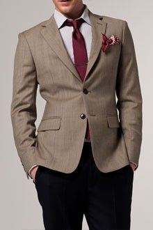 Intriguing Intellectual Tan Checked Blazer from Indochino