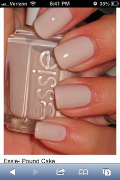 Essie - Pound cake. Love this color!