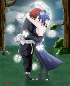 NagaKon hug in the dark forest