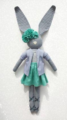 Fabric Bunny by Navy Plum