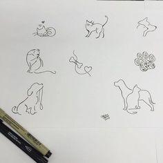 Super Dogs Tattoo Ideas Small Heart Ideas - My most beautiful tattoo list Mini Tattoos, Dog Tattoos, Cat Tattoo, Trendy Tattoos, Animal Tattoos, Body Art Tattoos, Small Tattoos, Tattoos For Women, Tatoos