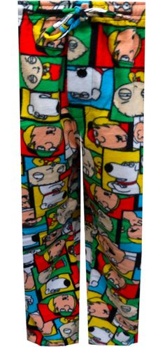 WebUndies.com Family Guy Favorite Characters Fleece Lounge Pants