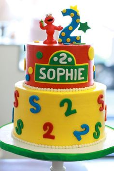 Elmo! Sesame Street Birthday Cakes, Elmo Birthday Cake, Sesame Street Cake, Elmo Cake, 2nd Birthday Parties, Birthday Fun, Birthday Ideas, Elmo Party, Cake Gallery