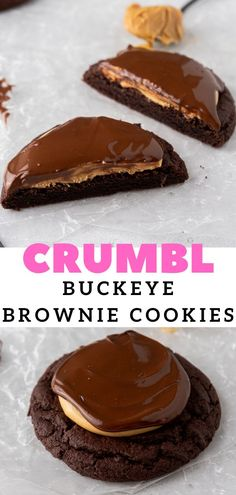 Buckeye Brownie Cookies, Yummy Treats, Delicious Desserts, Peanut Butter Buckeyes, Cookie Recipes, Dessert Recipes, Sweet Peanuts, Good Food, Yummy Food