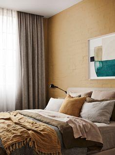 Dulux Golden grain Source: The Design Files Bedroom Inspirations, Interior Paint Colors, Interior, House Colors, Interior Paint, Trending Decor, Colorful Interiors, Farmhouse Interior, Interior Trend