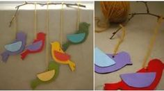 Para elaborarlo, solo has esto: Preschool Crafts, Diy And Crafts, Crafts For Kids, Diy Paper, Paper Crafts, Bird Mobile, Animal Crafts, Projects For Kids, Cool Kids