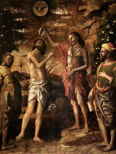 mantegna,baptest , christ