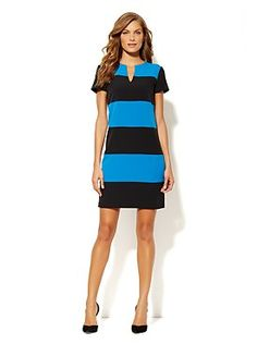 Striped Shift Dress from New York & Company. LOVE!